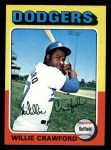 1975 Topps Mini #186  Willie Crawford  Front Thumbnail