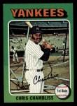 1975 Topps Mini #585  Chris Chambliss  Front Thumbnail
