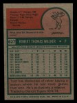 1975 Topps Mini #627  Tom Walker  Back Thumbnail