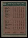 1975 Topps Mini #465   -  Joe Rudi / Ron Cey 1974 World Series - Game #5 Back Thumbnail