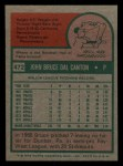 1975 Topps Mini #472  Bruce Dal Canton  Back Thumbnail