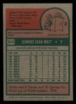 1975 Topps Mini #374  Eddie Watt  Back Thumbnail