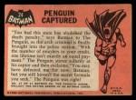 1966 Topps Batman Black Bat #24   Penguin Captured Back Thumbnail