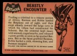 1966 Topps Batman Black Bat #50   Beastly Encounter Back Thumbnail