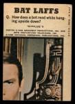 1966 Topps Batman Bat Laffs #33   Batman Back Thumbnail