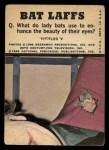 1966 Topps Batman Bat Laffs #47   Penguin / Joker / Bruce Wayne Back Thumbnail