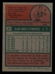 1975 Topps Mini #24  Al Fitzmorris  Back Thumbnail