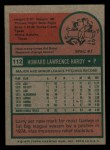 1975 Topps Mini #112  Larry Hardy  Back Thumbnail