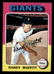 1975 Topps Mini #132  Randy Moffitt  Front Thumbnail
