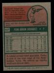 1975 Topps Mini #157  Pedro Borbon  Back Thumbnail