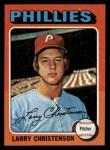 1975 Topps Mini #551  Larry Christenson  Front Thumbnail