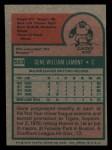 1975 Topps Mini #593  Gene Lamont  Back Thumbnail