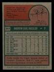 1975 Topps Mini #261  Andy Hassler  Back Thumbnail