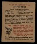 1948 Bowman #101  Joe Gottlieb  Back Thumbnail