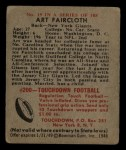 1948 Bowman #19  Art Faircloth  Back Thumbnail
