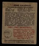 1948 Bowman #1  Ernie Calverley  Back Thumbnail