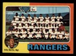 1975 Topps Mini #511   -  Billy Martin Rangers Team Checklist Front Thumbnail