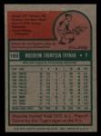 1975 Topps Mini #166  Woodie Fryman  Back Thumbnail