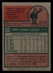 1975 Topps Mini #224  Ramon Hernandez  Back Thumbnail