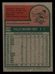 1975 Topps Mini #576  Phil Roof  Back Thumbnail