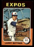 1975 Topps Mini #543  Larry Bittner  Front Thumbnail