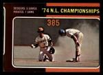 1975 Topps Mini #460   N.L. Championships Front Thumbnail