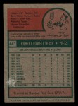 1975 Topps Mini #441  Bob Heise  Back Thumbnail