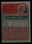 1975 Topps Mini #567  Jim Sundberg  Back Thumbnail