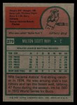 1975 Topps #279  Milt May  Back Thumbnail