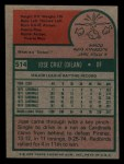 1975 Topps Mini #514  Jose Cruz  Back Thumbnail