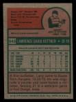 1975 Topps Mini #543  Larry Bittner  Back Thumbnail