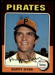 1975 Topps #538  Duffy Dyer  Front Thumbnail