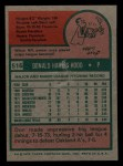 1975 Topps Mini #516  Don Hood  Back Thumbnail