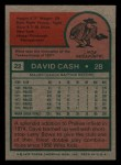 1975 Topps Mini #22  Dave Cash  Back Thumbnail