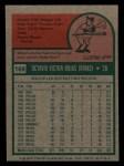 1975 Topps Mini #169  Cookie Rojas  Back Thumbnail