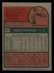 1975 Topps Mini #251  Fran Healy  Back Thumbnail