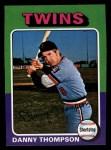 1975 Topps Mini #249  Danny Thompson  Front Thumbnail