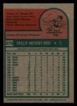 1975 Topps Mini #576  Phil Roof  Back Thumbnail