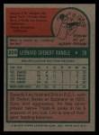 1975 Topps #259  Len Randle  Back Thumbnail