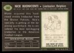 1969 Topps #192  Nick Buoniconti  Back Thumbnail