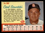 1962 Post Cereal #162  Carl Sawatski   Front Thumbnail