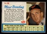1962 Post #28  Marv Breeding   Front Thumbnail