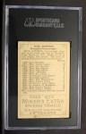 1912 T227 #9 MIN Jack Johnson  Back Thumbnail
