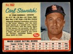 1962 Post #162  Carl Sawatski   Front Thumbnail