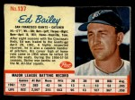 1962 Post #137  Ed Bailey   Front Thumbnail