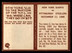 1967 Philadelphia #194   Giants Highlight Back Thumbnail