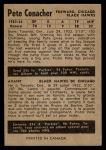 1954 Parkhurst #86  Pete Conacher  Back Thumbnail