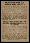 1954 Parkhurst #90   -  Alex Delvecchio Delvecchio Finds Leaf Back Thumbnail
