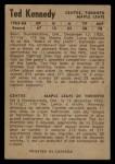 1954 Parkhurst #29  Teeder Kennedy  Back Thumbnail