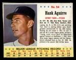 1963 Jello #54  Hank Aguirre  Front Thumbnail